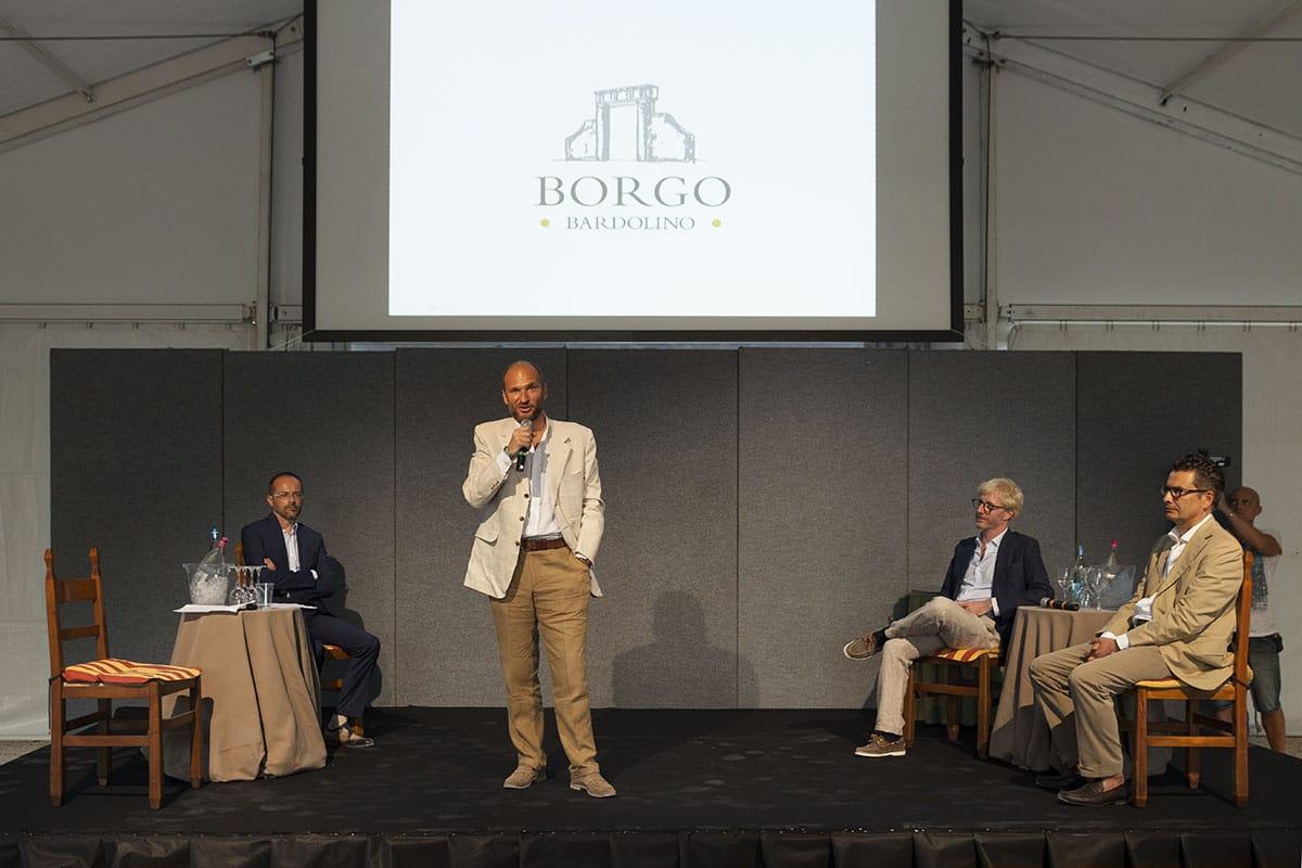 Documentazione inaugurazione di Borgo Bardolino, restauro conservativo di parte della tenuta Guerrieri Rizzardi, trasformata in polo turistico ricettivo e commerciale nel centro di Bardolino.