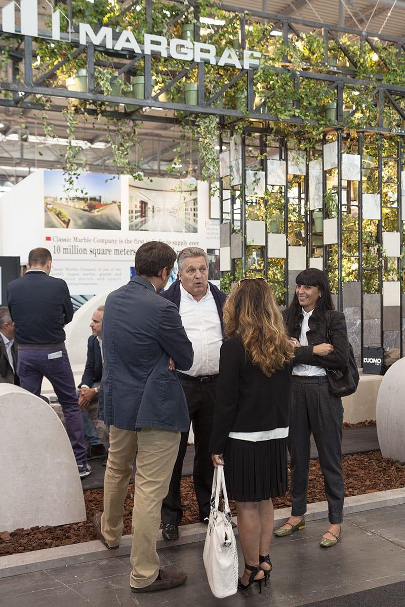 Documentazione conferenza stampa per la presentazione dello stand installazione Margraf durante la fiera Marmomacc Verona 2014 a cura di Metrogramma.