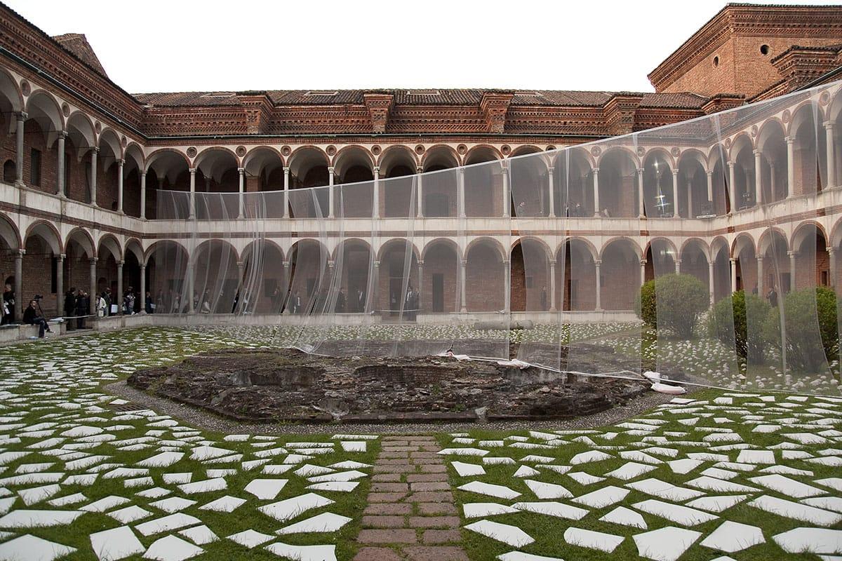 Documentazione del CCCWall di Kengo Kuma, installazione raffigurante un'astrazione della prima opera architettonica realizzata in Italia da Kengo Kuma presso la sede di Casalgrande Padana.